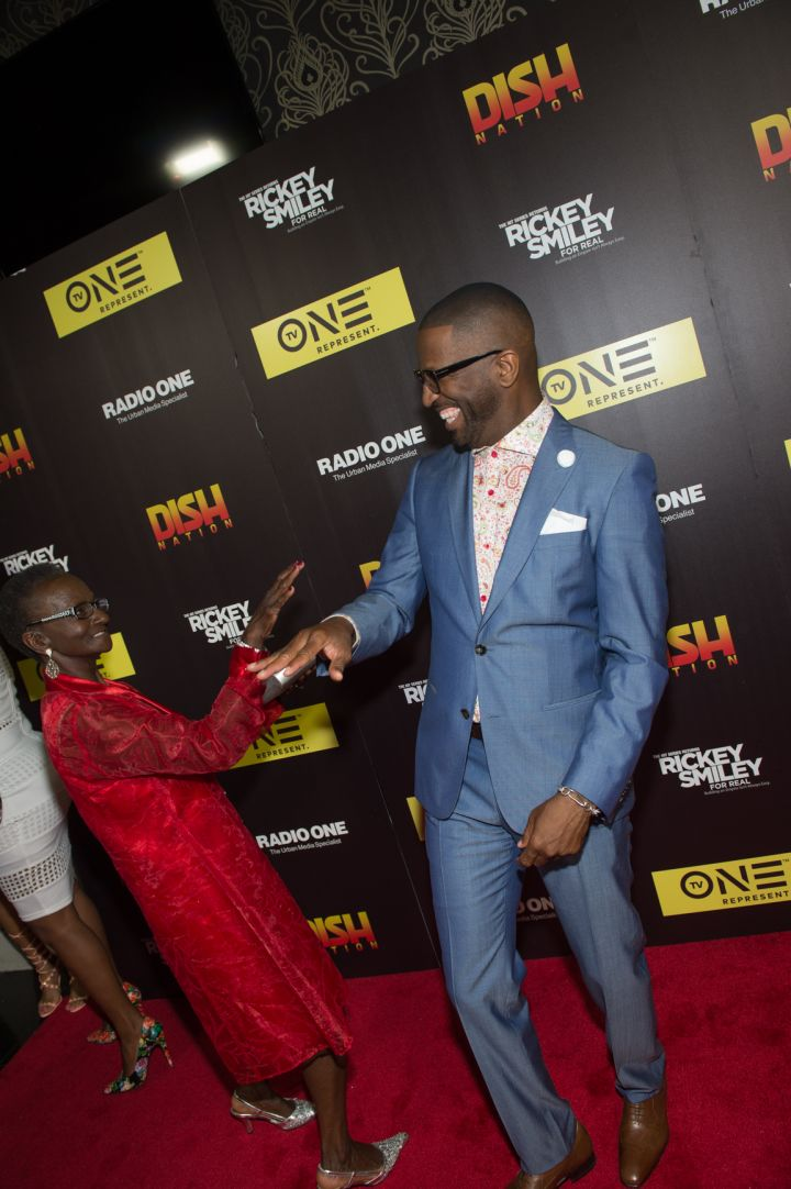Rickey Smiley With His Mother
