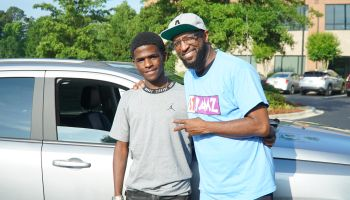 Rickey Smiley Gives Corey Patrick A Car