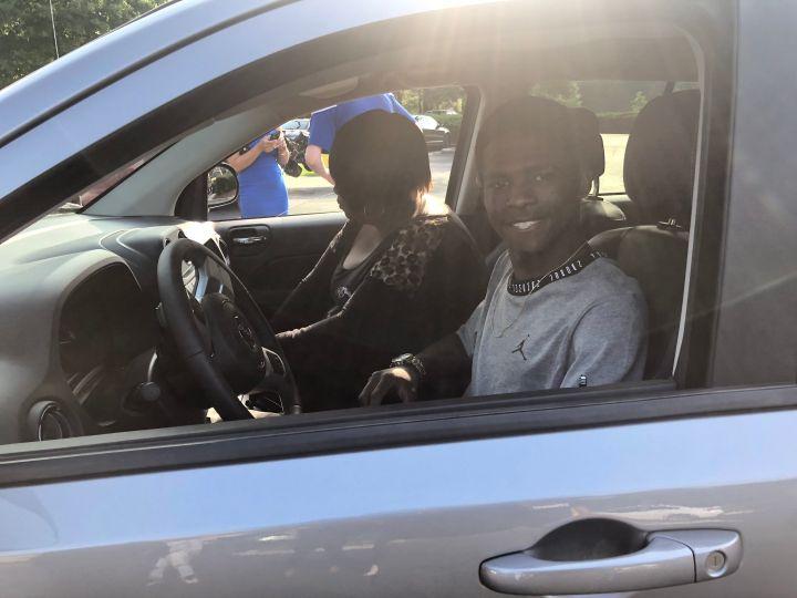 Rickey Smiley Gives Corey Patrick A Car