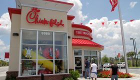 The exterior of Chick-fil-A in Naples, Florida.
