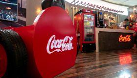 A Coca-cola happy factory experience shop in Tianjin Joy...
