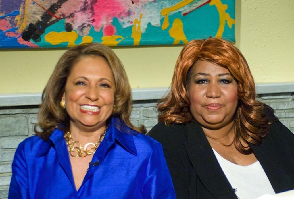 Kathy Hughes and Aretha Franklin