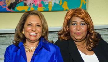 Kathy Hughes and Aretha Franklin