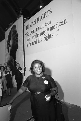 Fannie Hamer Entering Democratic National Convention