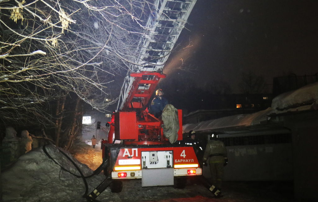 Barnaul leisure center fire extinguished