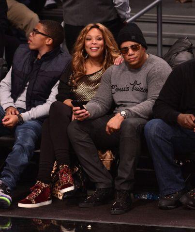 Celebrities Attend The New York Knicks Vs Brooklyn Nets Game - December 5, 2013