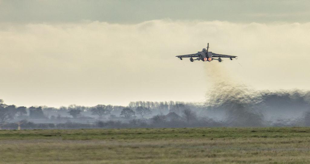Retirement celebrations begin for the Panvia Tornado combat aircraft at Royal Air Force Marham