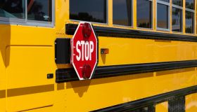 Stop Sign on a School Bus