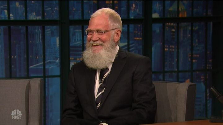 David Letterman during an appearance on NBC's 'Late Night with Seth Meyers.'