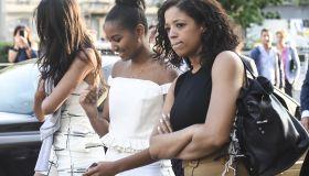 Malia and Sasha Obama out shopping in Milan