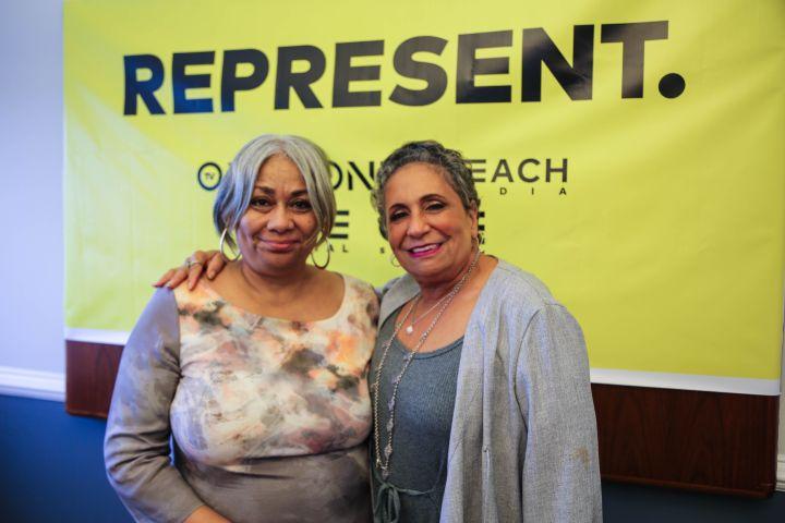 Cathy Hughes and Dyana Williams