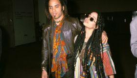 Lenny Kravitz and Lisa Bonet in NYC 1987