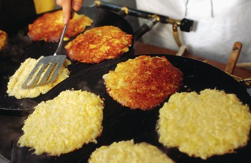 Frying Potato Pancakes
