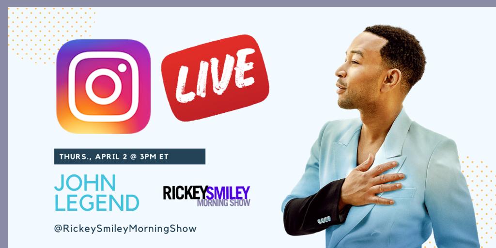 john legend ig live on rickey smiley morning show