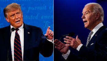 CLEVELAND, OH - SEPTEMBER 29: President Donald Trump speaks dur