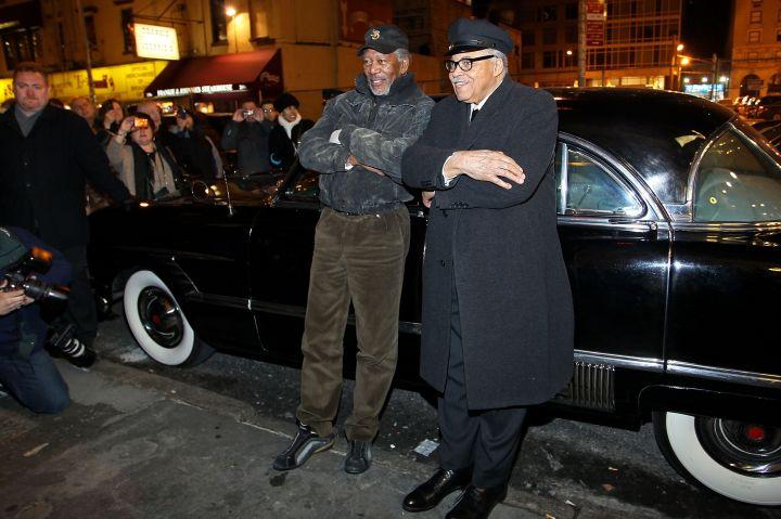 James Earl Jones And Morgan Freeman Meet At 'Driving Miss Daisy' On Broadway